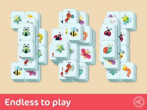 Toonia TwinMatch - Match Pairs of Animal, Bugs, Food and Space Cards with Mahjongg Solitaire Pairing Game for Kids & Toddlers screenshot 7