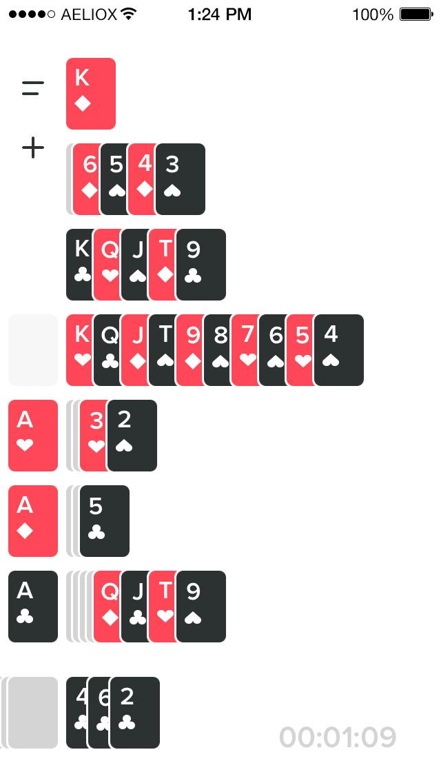 Solitaere screenshot 1