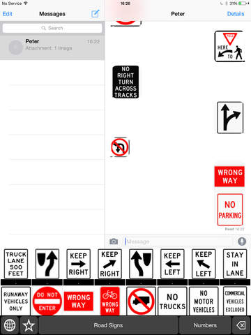 Road Signs Keyboard Stickers: Chat with Traffic Icons on Message and More screenshot 8
