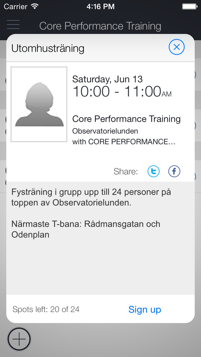 CORE Performance Training screenshot 2