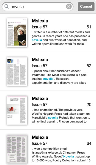 Mslexia screenshot 4