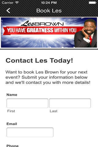 Les Brown App - náhled