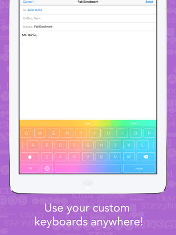 Kiwi - Colorful, Custom Keyboard Designer with Emoji for iOS 8 screenshot 8