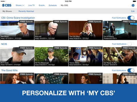 CBS - Full Episodes & Live TV screenshot 8