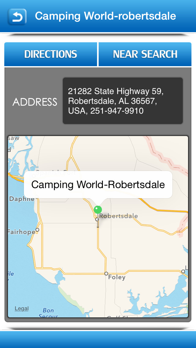 Winnebago Motorhome Service Centers screenshot 3