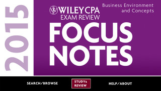 BEC Notes - Wiley CPA Exam Review Focus Notes On-the-Go: Business Environments & Concepts screenshot 1