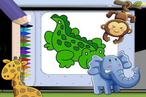 Pintar animales del zoo y de la selva – libros par - náhled