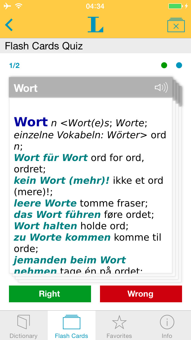 German Danish Dictionary screenshot 3