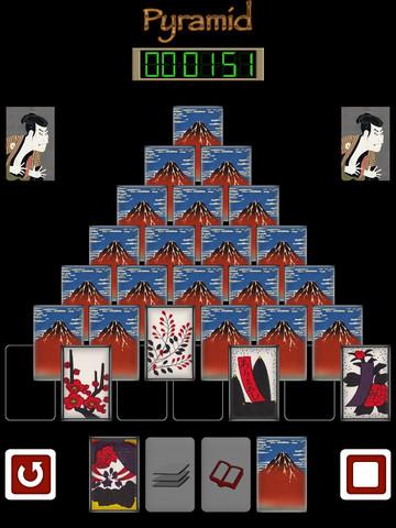 Pyramid of Japanese playing cards FVN screenshot 6