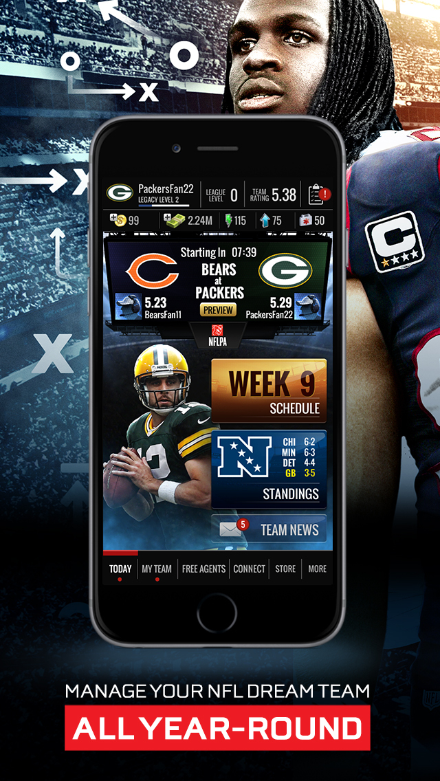 NFL Showdown - Football Manager: Top Free Sports Strategy Game screenshot #1