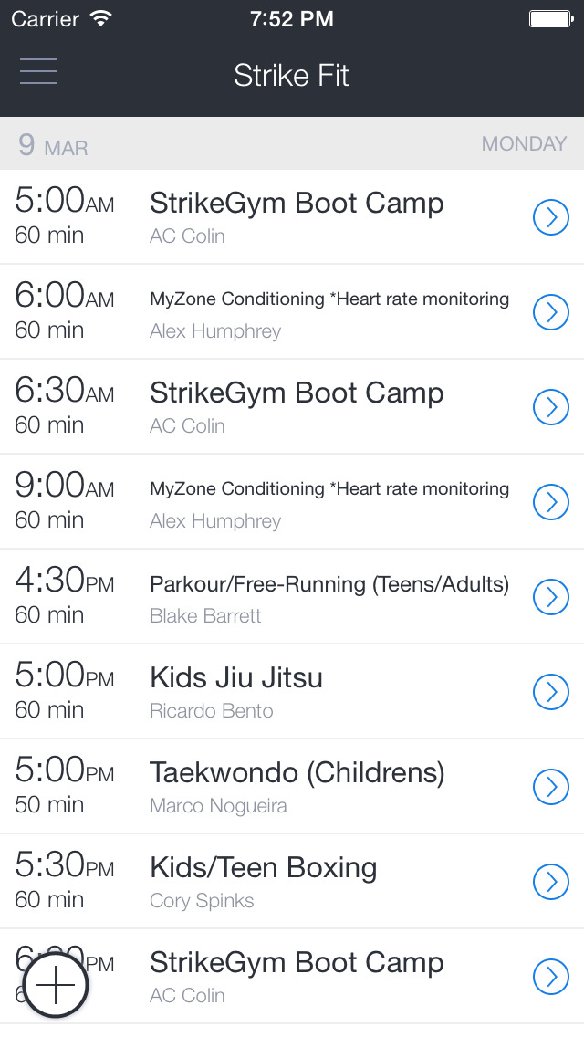 StrikeGym Fitness screenshot 1