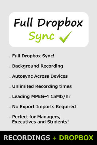 VoiceBox! for Dropbox (Sync Audio Recordings and V - náhled