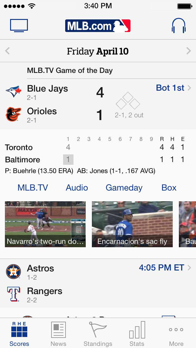 MLB At Bat screenshot 2