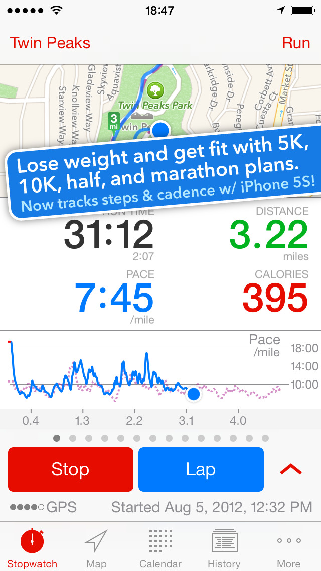 5K Runmeter - Run / Walk Training screenshot 1