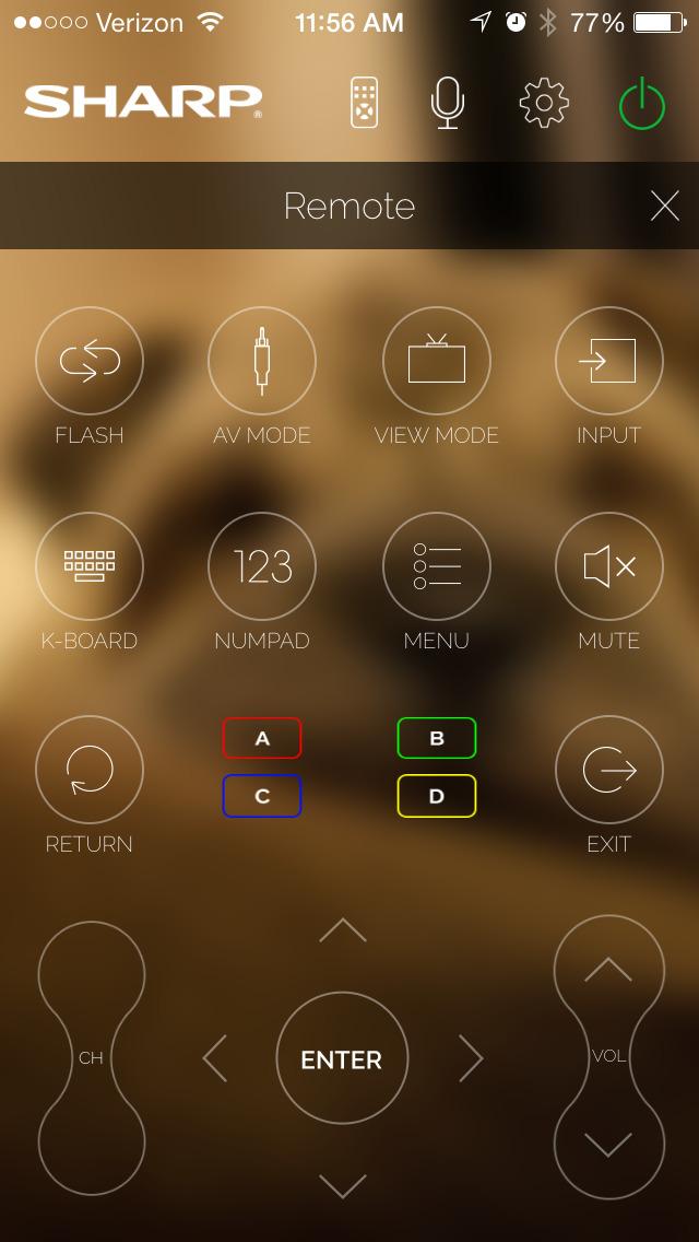 Sharp SmartCentral Remote screenshot 2