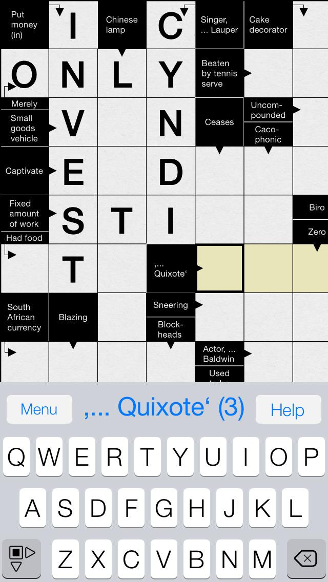 Crossword: Arrow Words. Smart Crossword Puzzles for iPhone screenshot 2