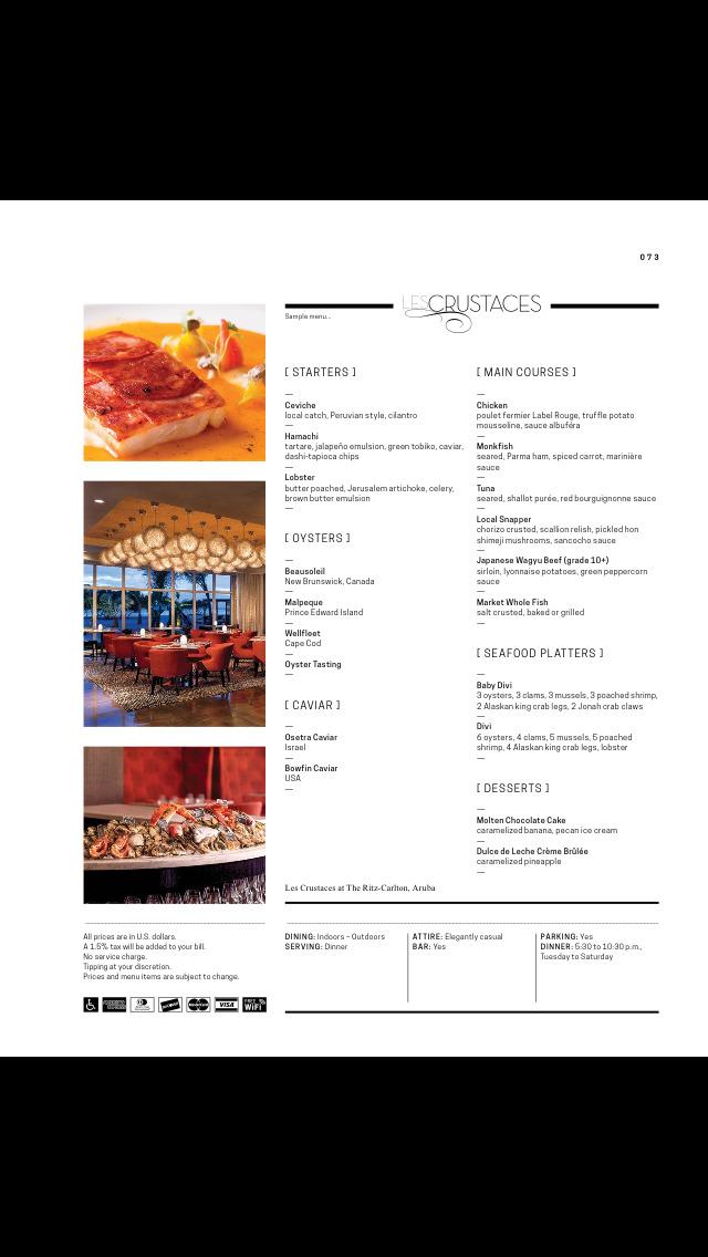 Menu International - Restaurant Guide - Aruba screenshot 5
