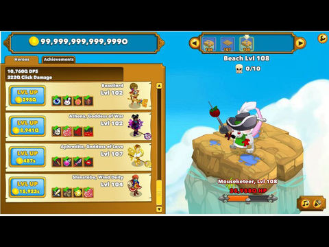 Clicker Heroes 2 - Free Idle Game (iPad) reviews at iPad Quality Index
