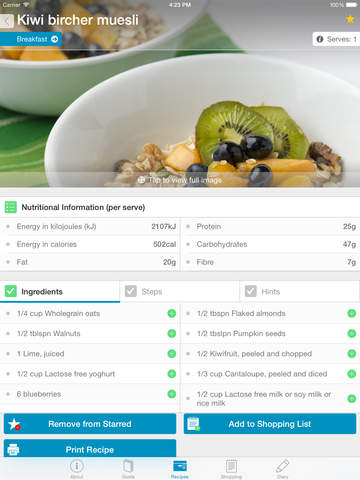 Monash University FODMAP diet screenshot 9
