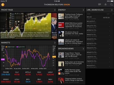 Thomson Reuters Eikon (iPad) reviews at iPad Quality Index