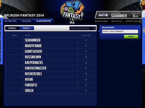 NFLRUSH Fantasy Football screenshot 7