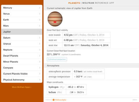 Wolfram Planets Reference App screenshot 10
