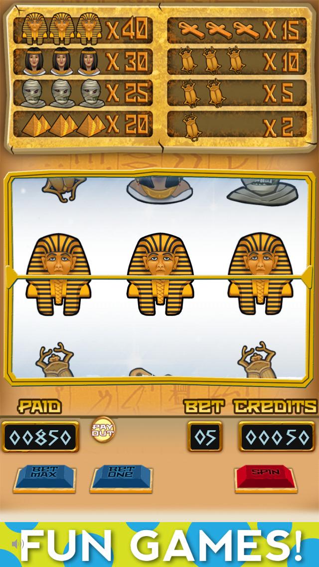 `Lucky Pharaoh Egypt Gold Treasure Temple Casino Slots Free screenshot 1