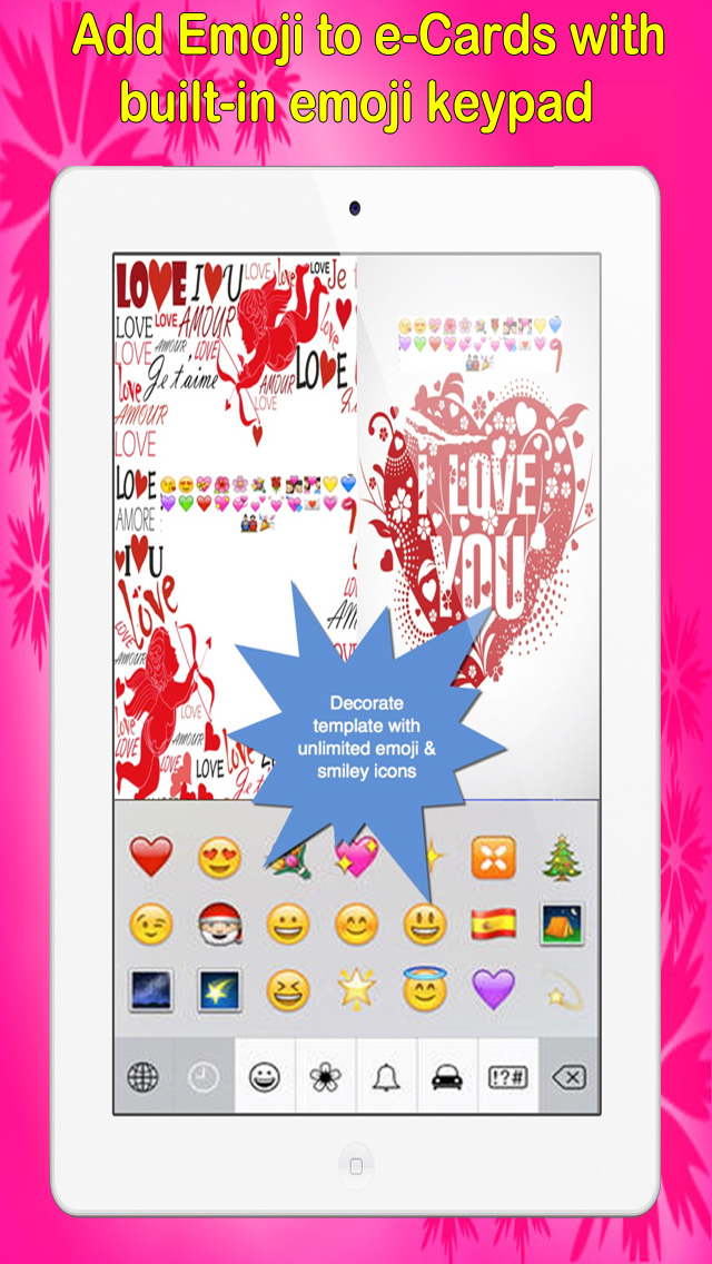 Love e-Cards and Wallpapers Maker.Customising and sending romantic love and valentine cards screenshot 3