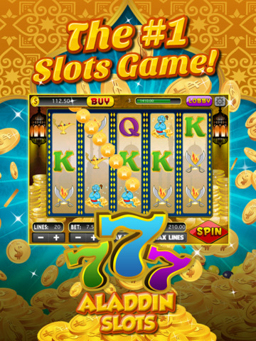 Ace Arabian Casino Slots - Magic Genie Jackpot Big Win Adventure Slot Machine Game HD screenshot 6