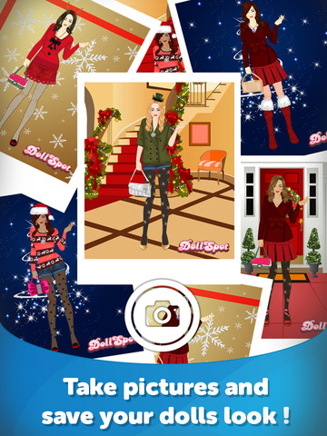 Christmas Dress Up - Fun Doll Makeover Game - náhled