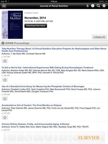 Journal of Renal Nutrition screenshot 8