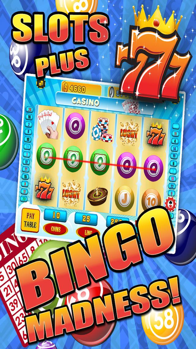 Aces Bingo Slots Casino - Crazy Fun Vegas-Style Super Bingo Slot Machine Games HD screenshot 2