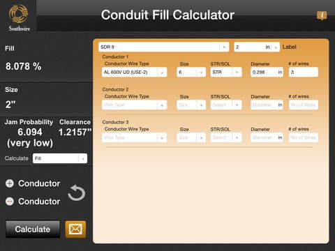 Southwire Conduit Fill Calculator Ipad Screenshot 3