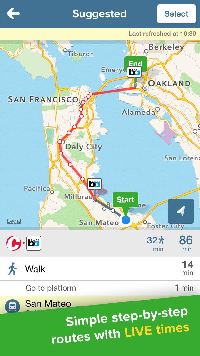Citymapper Transit Navigation screenshot 3