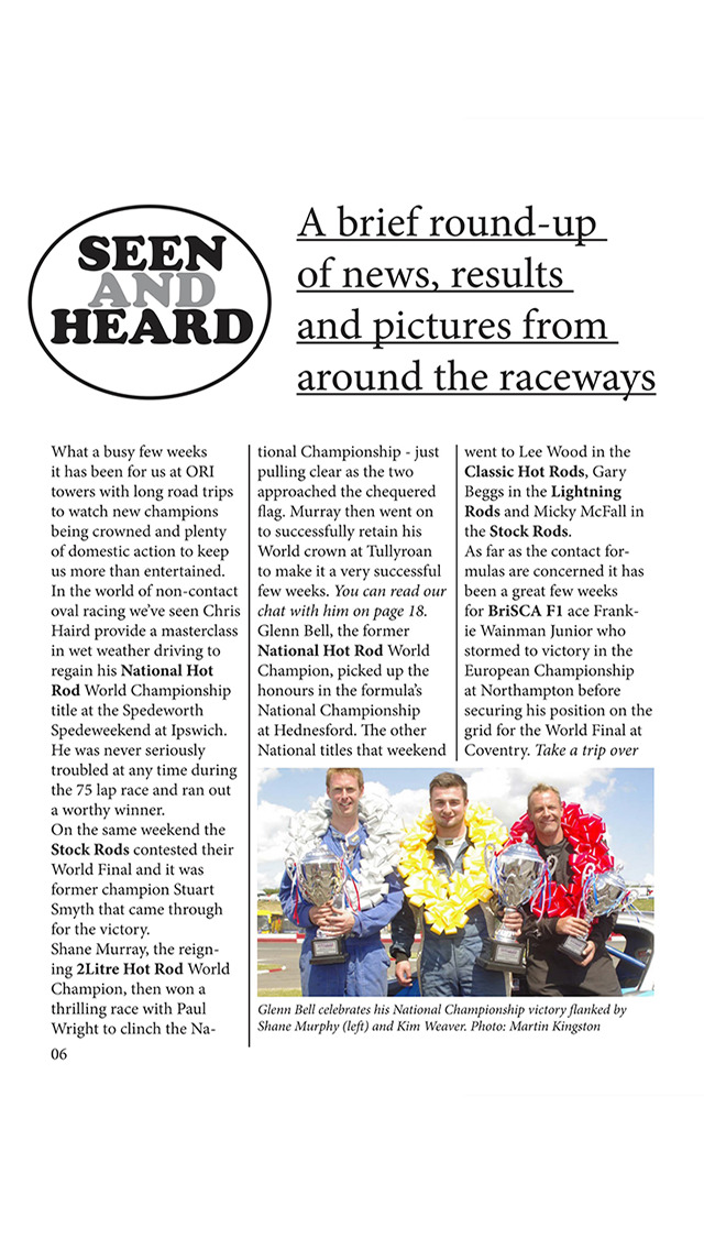 Oval Racing Insider Magazine screenshot 2