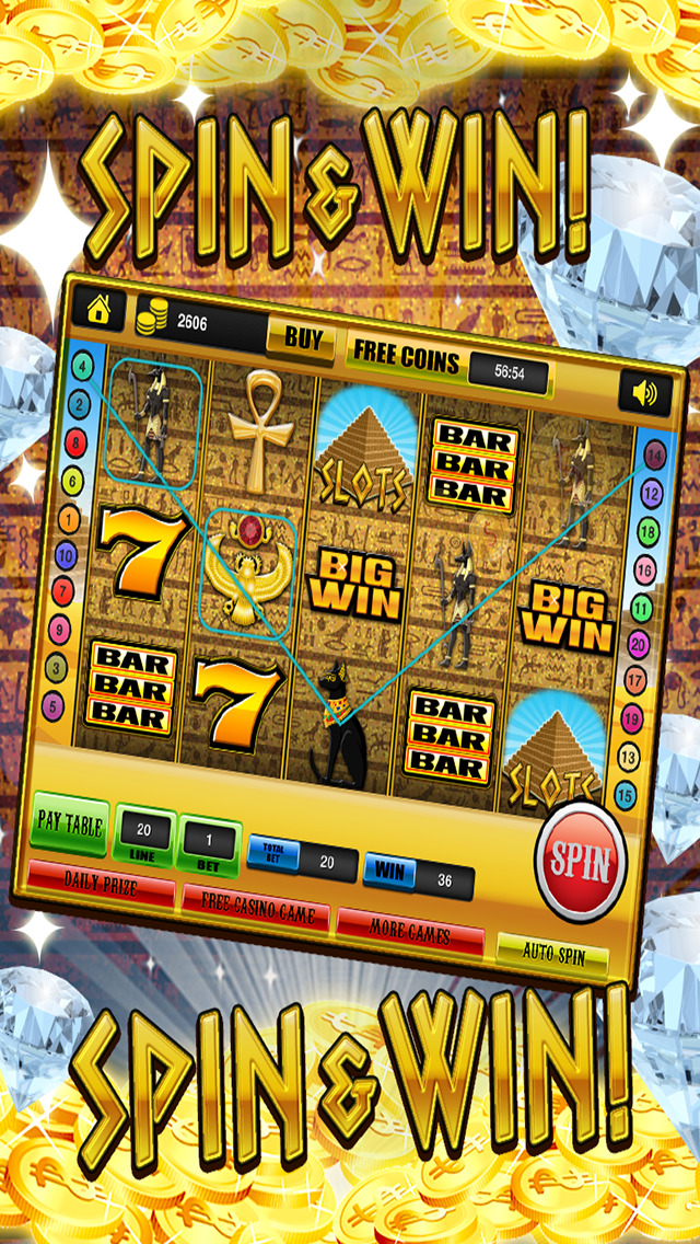Ace Slots Pharaoh's Gold - Jackpot Kingdom Journey Slot Machine Games Free screenshot 2