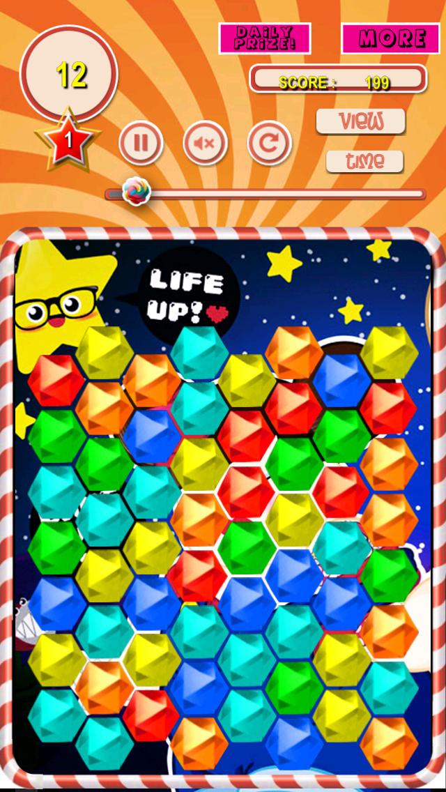 Candy Magic: Sweet Hexa and Diamonds of Puzzle FREE screenshot 1