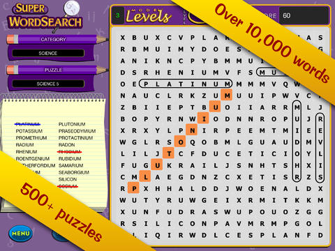 Super Word Search! - Seek and Find Puzzles screenshot 5