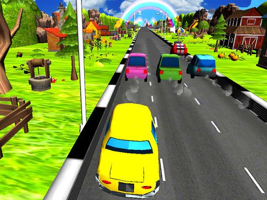 Turbo Car Racing : Cartoon Drive Free Game screenshot 4