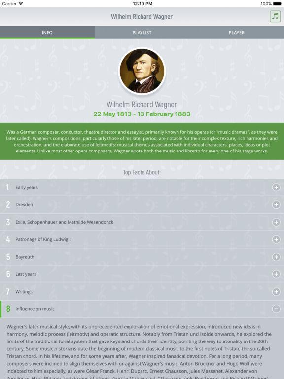 Richard Wagner - Classical Music Full screenshot 5