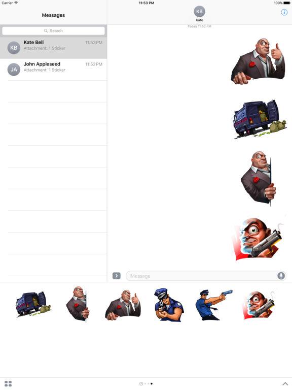 Doodle Mafia Stickers Pack screenshot 6