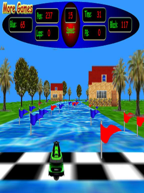 3D Kid's Jet Ski Racing - Beware Of The Shark screenshot 2