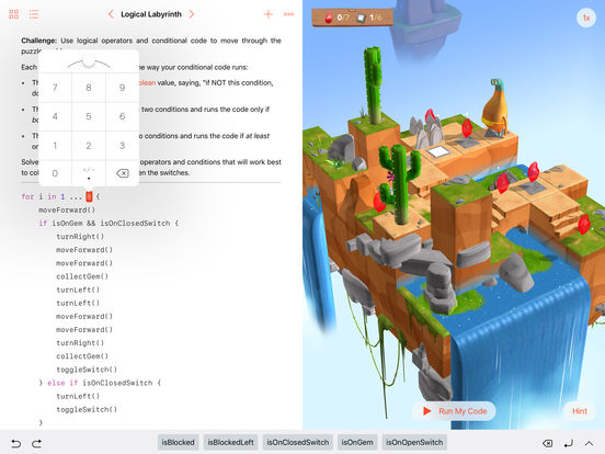Swift Playgrounds screenshot 2