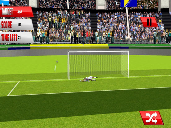 Football Fantasy Flick : Goal Shoot-out socc-er 3D screenshot 4