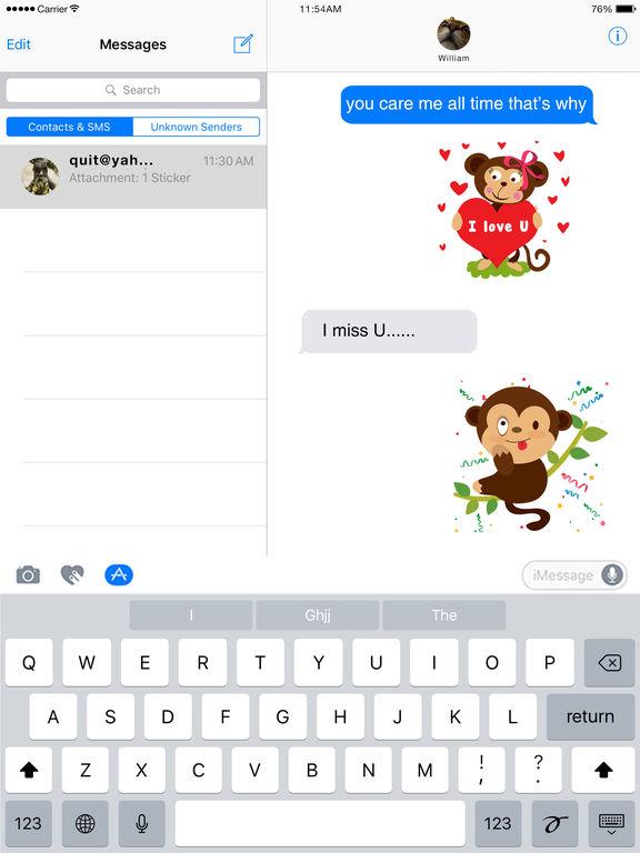 Monkey Emoji - Monkey Stickers for iMessage screenshot 6