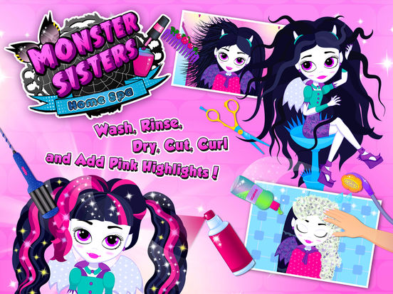 Monster Sisters 2 Home Spa - No Ads screenshot 6