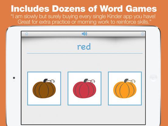 Kindergarten Learning Games - Fall Review App screenshot 7