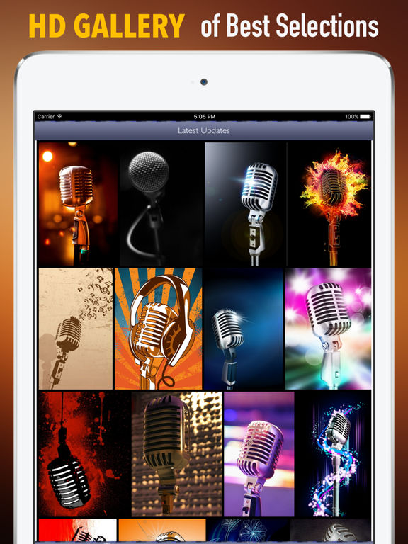 Microphones Wallpapers HD: Quotes Backgrounds screenshot 6