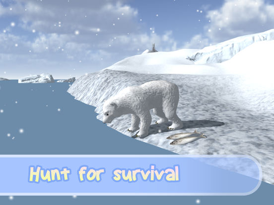 Wild White Polar Bear Simulator screenshot 8