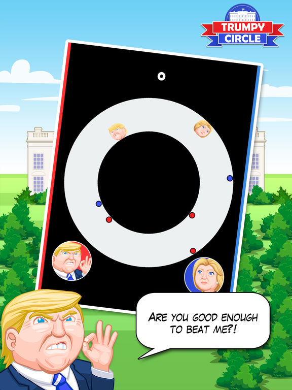 Trumpy Circle - Hillary & Trump Climb America 2016 screenshot 2
